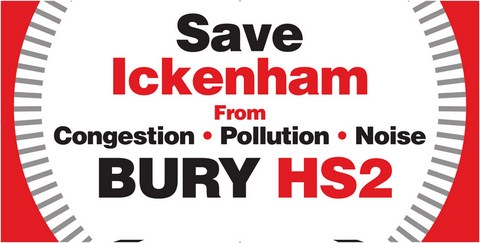 HS2 through Ickenham